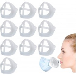Silicone 3D Face Mask Brackets (Pack of 10)