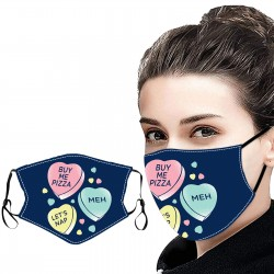 Heart Candy Blue Face Mask