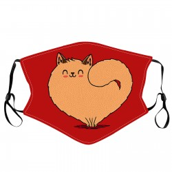 Love Cat On Red Mask