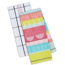 Easter Greetings Dish Towels (Set of 2)