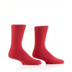 Men's Red Athletic Bamboo Crew Socks