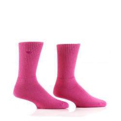 Men's Pink Athletic Bamboo Crew Socks