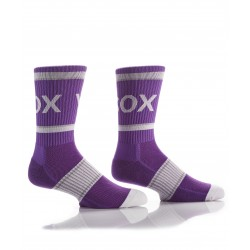 Men's Ribbed Athletic Crew Socks Purple