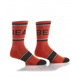 Men's Ribbed Athletic Crew Socks Orange