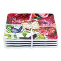 Sweet Floral Melody Canape Plate Set 4