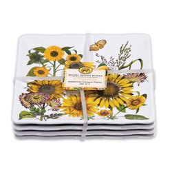 Sunflower Canape Plate Set 4