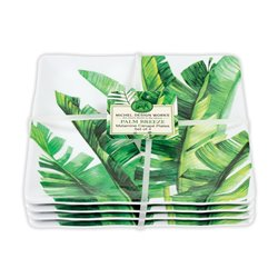 Palm Breeze Canape Plates Set 4