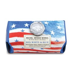 Red, White & Blue Large Bath Soap Bar