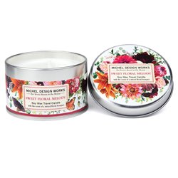 Sweet Floral Melody Travel Candle