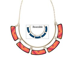 Coral Crush Gold Cleopatra Necklace
