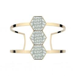 Linen 14K Gold Hexagon Cuff Bracelet