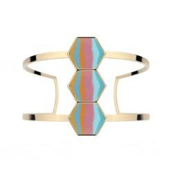 Salt Water Taffy 14K Gold Hexagon Cuff Bracelet