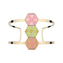 Pink Salt 14K Gold Hexagon Cuff Bracelet