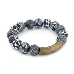 Black White Fraya Bracelet