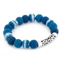 Navajo Blue Silver Pacifica Bracelet
