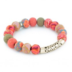 Coral Crush Gold Pacifica Bracelet