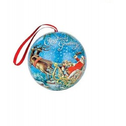 Michel Design Works Christmas Holiday Mulling Spices Tin Ball Ornament (Christmas Greetings)