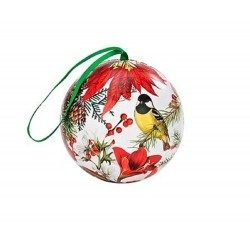 Michel Design Works Christmas Holiday Mulling Spices Tin Ball Ornament (Merry & Bright)