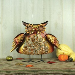 Embossed Fall Owl Stander
