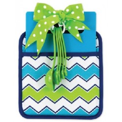 Blue & Green Chevron Kitchen Essential