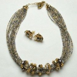 Julia Necklace Gray Gold