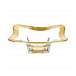 Square Gold Leaf Bowl 8""