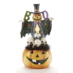 LED Resin Pumpkin Man