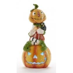 Resin Pumpkin Man On Pumpkin