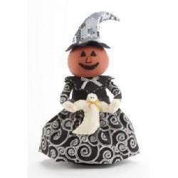 """11"""" Swirl Pumpkin Witch Stump"""