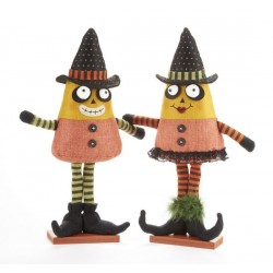 Standing Candycorn Witch