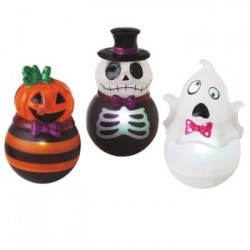 Roly-Poly Lighted Halloween Figures