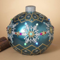Musical Outdoor Jumbo Ornament Blue