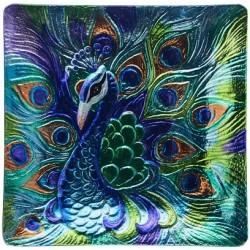Peacock Platter Square