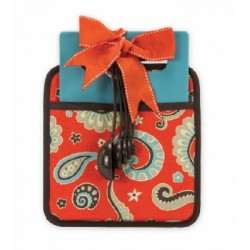 Coral & Brown Paisley Kitchen Essential