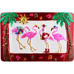 Christmas Flamingo Platter