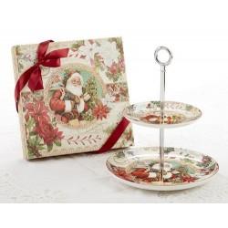 Porcelain Dessert Stand-Santa