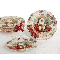 Porcelain Santa Plates Box Set