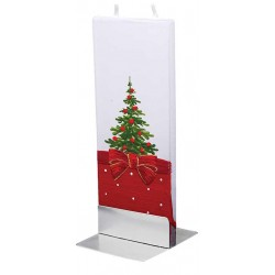Flatyz Candle: Tree Red Bow