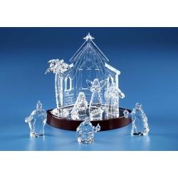 Miniature Nativity Set & Base