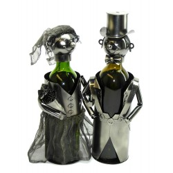Bottle Holder: Bride & Groom