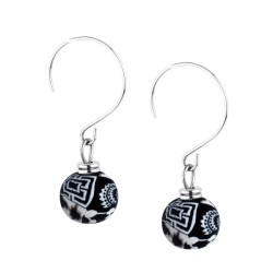 Black White Petite Earrings