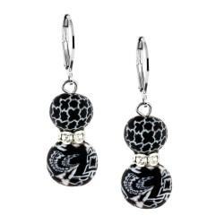 Black White Crystal Earrings