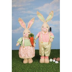 Floral Plaid Bunny Stretch Leg