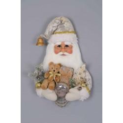 Cream Vintage Santa Head