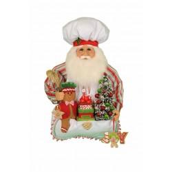 Gingerbread Santa Head