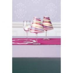 Vellum Shade Pink Swirl