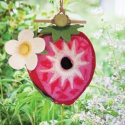 Strawberry Birdhouse - Wool