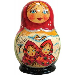 Russian 5 Piece Fairy Tale Nested Doll Set