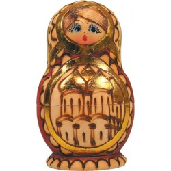 Russian 5 Piece Cathedral Nested Doll Set