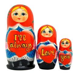 I'll Always Love You Three-Nest Doll Set